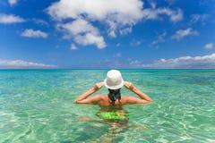 帽子游泳妇女 库存照片