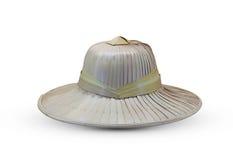 帽子由叶子制成。 库存图片