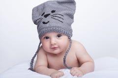 帽子的婴孩 免版税库存照片