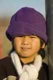帽子紫色 库存图片