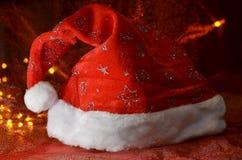 帽子红色圣诞老人 库存照片