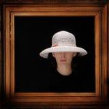 帽子纵向妇女 库存照片