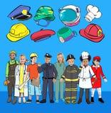 帽子职业梦想工作目标专门技术概念 免版税图库摄影