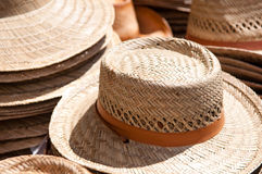帽子销售额秸杆 免版税库存图片