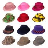 帽子键入多种 免版税库存照片
