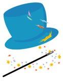 帽子魔术 库存图片