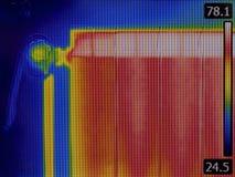 幅射器加热器上升暖流图象 库存照片
