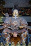 幕府时代的将军Ieyasu雕象  库存照片