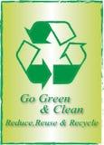 干净和绿色 库存图片