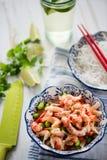 干净的吃沙拉用小龙虾 库存图片