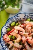干净的吃沙拉用小龙虾 免版税库存图片