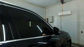干净的干燥汽车在洗涤以后 股票录像