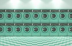 干净的洗衣店 皇族释放例证