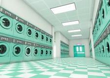 干净的洗衣店 库存例证