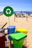 干净的海滩 免版税库存图片