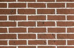 干净的红色brickwall背景 免版税库存照片