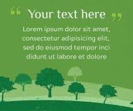 干净的绿色环境网横幅与难看的东西样式的 库存例证