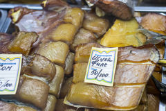 干咸鱼在俄国商店 免版税图库摄影