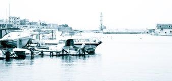 干尼亚州港口,克利特 免版税库存照片