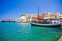 干尼亚州/克利特/希腊 免版税库存图片