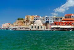 干尼亚州 老威尼斯式港口 免版税库存图片