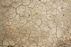 干旱的土地顶视图有干燥破裂的地面的 免版税库存照片