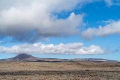 干旱的火山区,兰萨罗特岛海岛,金丝雀,西班牙 图库摄影