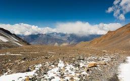 干旱的高地荒原,石山沙漠 免版税库存图片