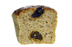 从干李子的开胃面包 库存图片