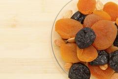 干果子、修剪和杏干 库存照片