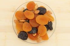 干果子、修剪和杏干 库存图片