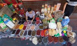 干果子卖主在泰国 免版税库存图片