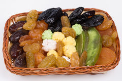 干果子和坚果。 免版税库存图片