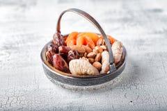 干果子和坚果混合物  免版税库存图片