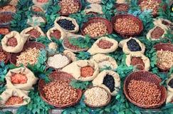干果子和豆类 图库摄影