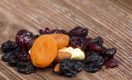 干果子用杏子 免版税库存图片