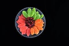 干果子- Jweish假日Tu Bishvat的标志 免版税库存照片