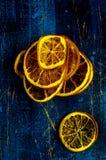 干橙色切片 免版税库存照片