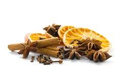 干橙色香料 免版税库存照片