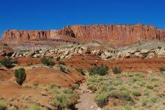 干河床和美妙的岩石,犹他 免版税库存图片