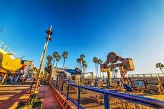 干涉海滩在一个晴天在日落 免版税图库摄影