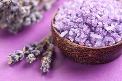 干淡紫色盐海运 免版税库存照片