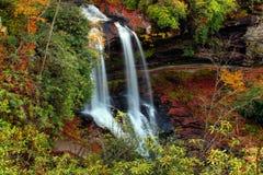 干瀑布,北卡罗来纳 免版税库存图片