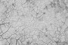 干燥和破裂的地面从上面 免版税库存图片