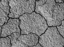 干燥和破裂的土壤 免版税库存照片
