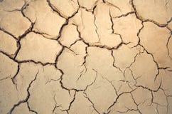 干燥和破裂的地球口气 免版税库存照片
