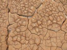 干燥和破裂的地面 免版税图库摄影