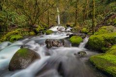 干燥小河沿哥伦比亚河峡谷落俄勒冈春天 图库摄影