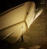 干燥小船的码头 库存照片