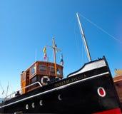 干燥小船的码头 免版税库存照片